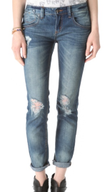 Free People Destroyed Skinny Jeans - USD$98.00