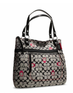Coach 'Poppy' embroidered signature c glam tote - AUD$295