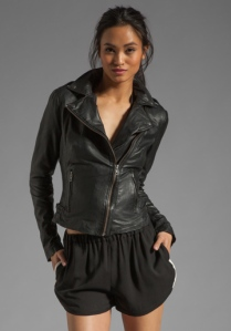 MUUBAA Tehmi Leather Biker Jacket - $517.90