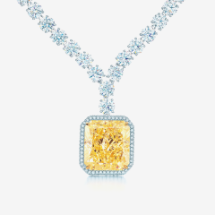 Tiffany & Co yellow diamond pendant
