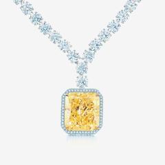 Tiffany & Co yellow diamond pendant