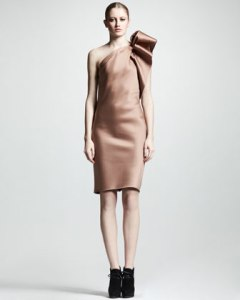 Lanvin one-shoulder duchess satin dress USD$2995