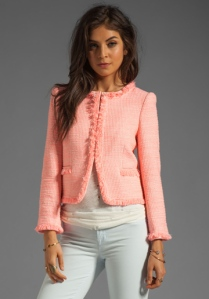 Chanel imitation anyone? Alice & Olivia open front jacket - AUD$445 approx