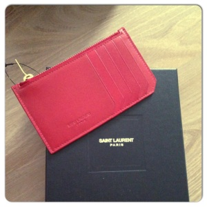 Saint Laurent Paris small red wallet - $225