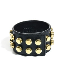 Saint Laurent studded leather cuff bracelet - AUD$555 from Matches Fashion